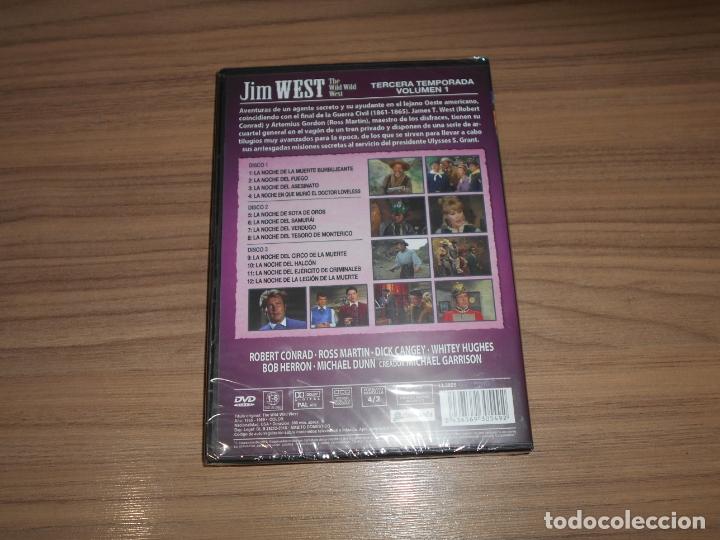 Cine: JIM WEST The WILD WEST Temporada 3 Volumen 1 3 DVD 600 Min. NUEVA PRECINTADA - Foto 2 - 279374063