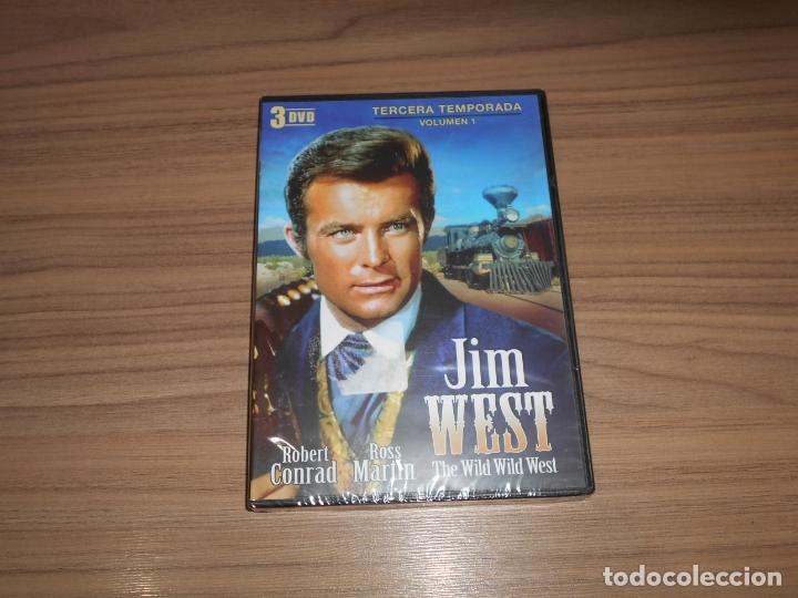 JIM WEST THE WILD WEST TEMPORADA 3 VOLUMEN 1 3 DVD 600 MIN. NUEVA PRECINTADA (Cine - Películas - DVD)