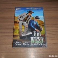 Cine: JIM WEST THE WILD WEST TEMPORADA 3 VOLUMEN 2 3 DVD 600 MIN. NUEVA PRECINTADA. Lote 279374013