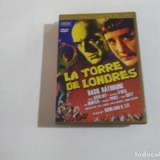 Cine: LA TORRE DE LONDRES - BASIL RATHBONE - ROWLAND V. LEE - DVD. Lote 181977783