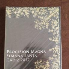 Cinéma: DVD PRECINTADO SEMANA SANTA PROCESION MAGNA CADIZ 2012 BICENTENARIO CONSTITUCION DE 1812. Lote 182151491