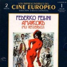 Cine: AMARCORD DVD (FELLINI - 2.DVD + LIBRETO)...GANADORA DEL OSCAR DE HOLLYWOOD.. Lote 182361926