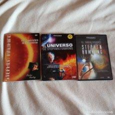 Cine: DVD SECRETOS DEL UNIVERSO,EL GRAN DISEÑO STEPHEN HAWKINGS LOTE 5 DISCOS DVDS. Lote 182368202
