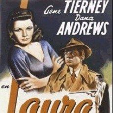 Cine: LAURA DIRECTOR: OTTO PREMINGER ACTORES: GENE TIERNEY, DANA ANDREWS, CLIFTON WEBB, JUDITH ANDERSON. Lote 182370958