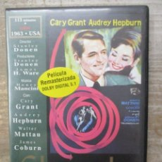 Cine: DVD - CHARADA - PEDIDO MINIMO 4 PELICULAS O PEDIDO MINIMO DE 10€. Lote 182409501