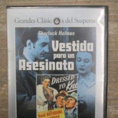 Cine: DVD - VESTIDA PARA UN ASESINATO - SHERLOCK HOLMES- PEDIDO MINIMO 4 PELICULAS O PEDIDO MINIMO DE 10€. Lote 182510605