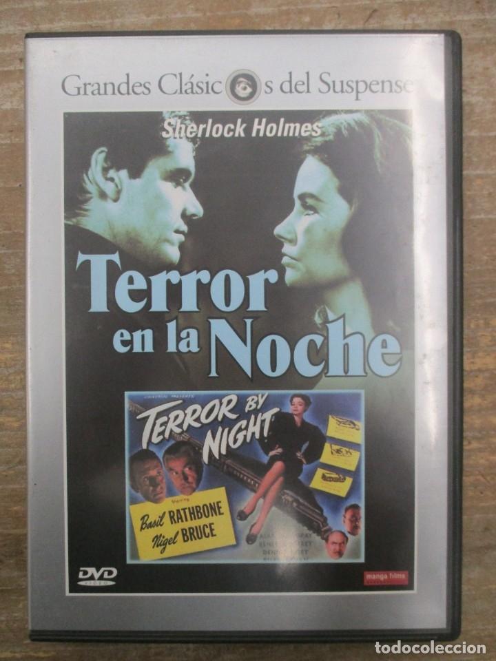 DVD - TERROR EN LA NOCHE - SHERLOCK HOLMES - PEDIDO MINIMO 4 PELICULAS O PEDIDO MINIMO DE 10€ (Cine - Películas - DVD)
