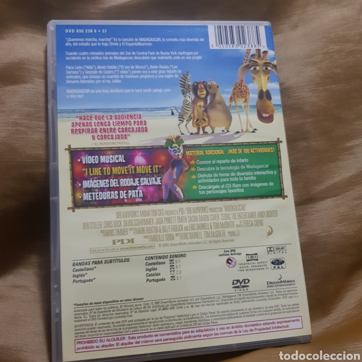 Cine: (S234) madagascar - DVD SEGUNDAMANO - Foto 2 - 182643568
