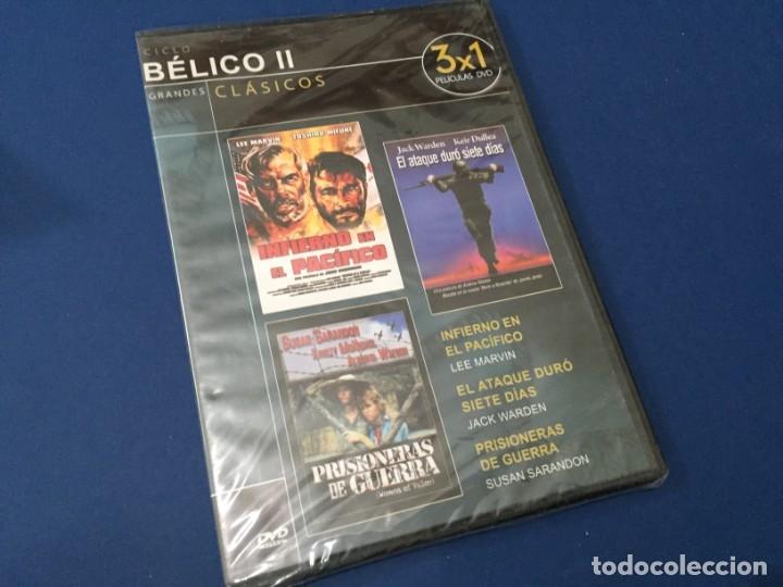DVD INFIERNO EN EL PACIFICO - EL ATAQUE DURO SIETE DIAS - PRISIONERAS DE GUERRA PRECINTADO (Cine - Películas - DVD)