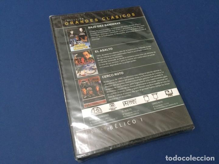 Cine: DVD BAJO DIEZ BANDERAS - EL ASALTO - CERCO ROTO PRECINTADO - Foto 2 - 182665446