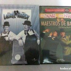 Cine: STAN LAUREL AND OLIVER HARDY - PACK CON 5 DISCOS Y MAESTROS DE BAILE - (NUEVOS. Lote 182828010