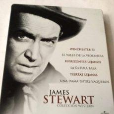 Cine: DVD- JAMES STEWART - 6 PELICULAS - ESTUCHE METÁLICO. Lote 182830448