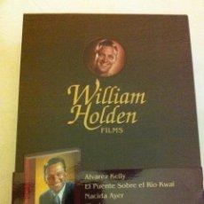 Cine: DVD -WILLIAM HOLDEN - ESTUCHE TIPO MADERA CON 5 DVD Y UN LIBRO- NUEVO. Lote 182944466