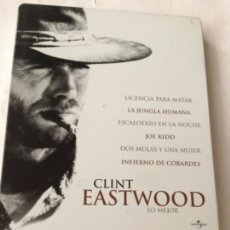 Cine: DVD- CLINT EASTWOOD - 6 PELICULAS - ESTUCHE METALICO NUEVO. Lote 182944832