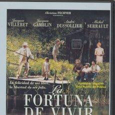 Cine: LA FORTUNA DE VIVIR DVD: TODOS TENEMOS LA LIBERTAD DE SER FELICES. ALGUNOS LA PERSIGUEN TODA SU VIDA. Lote 195188495
