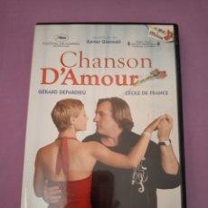 Cine: DVD. CHANSON D'AMOUR. DESCATALOGADO. CON GERARD DEPARDIEU.. Lote 182987270