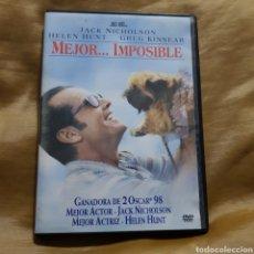 Cine: (S232)MEJOR IMPOSIBLE - DVD SEGUNDAMANO. Lote 182989132