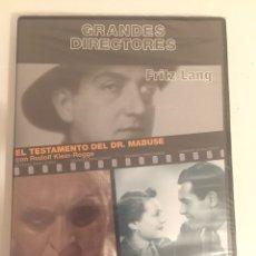 Cine: FRITZ LANG-EL TESTAMENTO DEL DR.MABUSE/SÓLO SE VIVE UNA VEZ/G.DIRECTORES 2009/NUEVA PRECINTADA. Lote 183330232