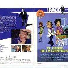 Cine: EL PADRE DE LA CRIATURA, CON PACO MARTÍNEZ SORIA. DVD.. Lote 183400586
