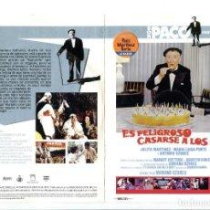 Cine: ES PELIGROSO CASARSE A LOS 60, CON PACO MARTÍNEZ SORIA. DVD.. Lote 183400837