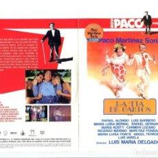 Cine: LA TÍA DE CARLOS, CON PACO MARTÍNEZ SORIA. DVD.. Lote 183400976