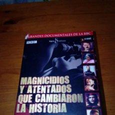Cine: MAGNICIDIOS Y ATENTADOS QUE CAMBIARON LA HISTORIA. ESTUCHE CON 6 DVD. . Lote 183454418