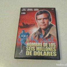 Cine: TEASLI . 5 DVD VIDEO.EL HOMBRE DE LOS SEIS MILLONES DE DÓLARES - THE SIX MILLION DOLLAR MAN.. Lote 183584356