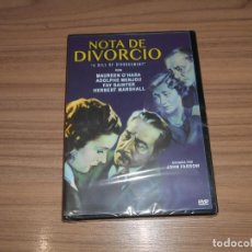 Cine: NOTA DE DIVORCIO DVD MAUREEN O'HARA NUEVA PRECINTADA. Lote 279367993