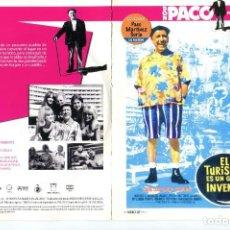Cine: EL TURISMO ES UN GRAN INVENTO , CON PACO MARTÍNEZ SORIA. DVD.. Lote 184056276