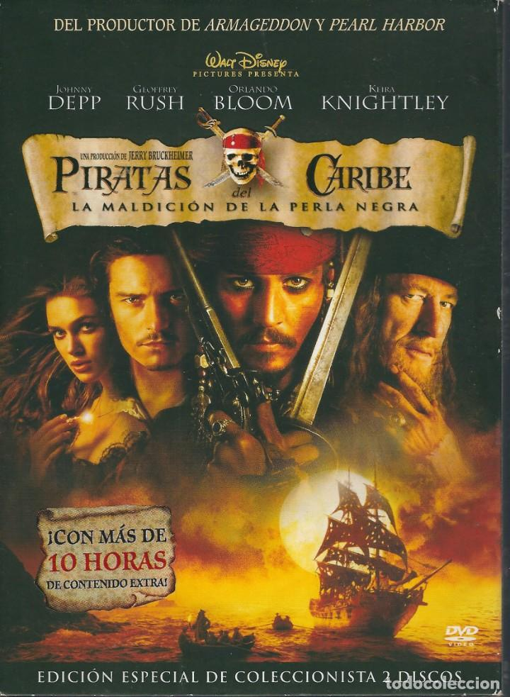 DVD PIRATAS DEL CARIBE. LA MALDICIÓN DE LA PERLA NEGRA. EDICIÓN ESPECIAL DE COLECCIONISTA. 2 DISCOS (Cine - Películas - DVD)