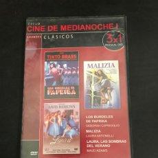 Cinéma: CINE DE MEDIANOCHE GRANDES CLÁSICOS 3 × 1. Lote 184265242