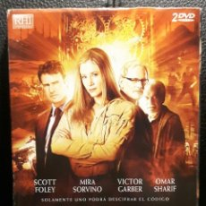 Cine: EL ULTIMO TEMPLARIO - 2 DVD - ORIGINAL - DESCATALOGADA - MINI SERIE - MIRA SORVINO - VICTOR GARBER. Lote 184353567