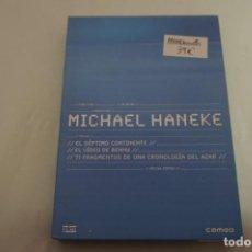 Cine: (1-B7) - 3 X DVD / MICHAEL HANEKE: EL SEPTIMO CONTINENTE, EL VIDEO DE BENNY, 71 FRAGMENTOS.... Lote 185772457