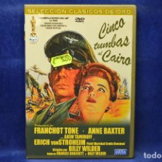 Cine: CINCO TUMBAS AL CAIRO - DVD . Lote 185877216