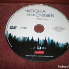 Cine: DVD HISTORIA DE UN CRIMEN / SIN CARATULA ( OPCIONAL ) NI CAJA. Lote 185929781