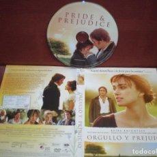 Cine: DVD ORGULLO Y PREJUICIO , CASTELLANO / SIN CARATULA ( OPCIONAL ) NI CAJA. Lote 185935358