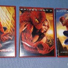 Cine: LOTE DE 3 PELICULAS DVD DE SPIDERMAN ORIGINALES EN PERFECTO ESTADO. Lote 185992432