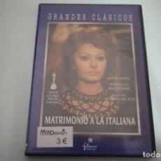 Cine: (4-B1) - 1 X DVD / MATRIMONIO A LA ITALIANA - SOFIA LOREN. Lote 186018863