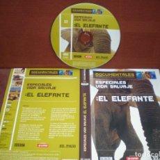 Cine: DVD DOCUMENTALES EL ELEFANTE VIDA SALVAJE / SIN CARATULA ( OPCIONAL ) NI CAJA. Lote 186027278