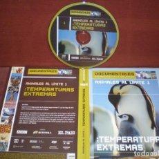 Cine: DVD DOCUMENTALES ANIMALES TEMPERATURAS EXTREMAS / SIN CARATULA ( OPCIONAL ) NI CAJA. Lote 186027478