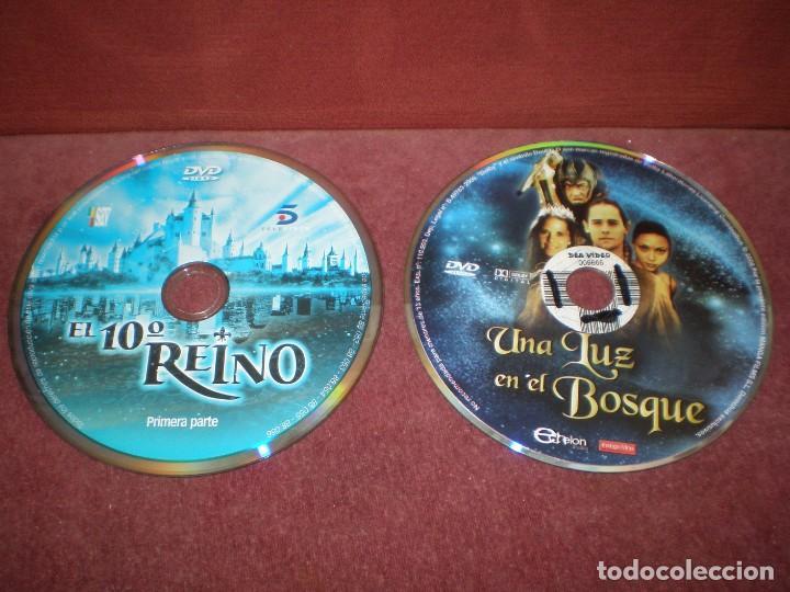 LOTE 2 DVD EL 10 REINO 1 PARTE Y UNA LUZ EN EL BOSQUE - CUENTO NAVIDAD - / SIN CARATULA NI CAJA (Cine - Películas - DVD)