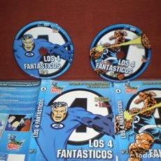 Cine: LOTE 2 DVD ANIMACION LOS 4 FANTASTICOS 1 Y 2 ( 7 EPISODIOS ) / SIN CARATULA ( OPCIONAL) NI CAJA. Lote 186031982