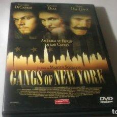 Cine: DVD - GANGS OF NEW YORK -- FILM DE MARTIN SCORSESE - LEORNARDO DICAPRIO. Lote 186040973