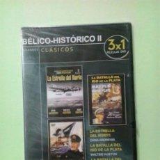 Cine: LMV - LA ESTRELLA DEL NORTE / LA BATALLA DEL RIO DE LA PLATA / LA BATALLA DEL MAR DEL JAPÓN - DVD. Lote 186392957