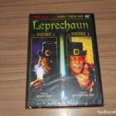 Cine: LEPRECHAUN EL DUENDE 2 + EL DUENDE 3 EDICION ESPECIAL 2 DVD NUEVA PRECINTADA. Lote 186394766
