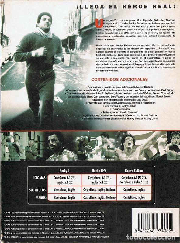 Cine: ROCKY LA SAGA COMPLETA SYLVESTER STALLONE - Foto 3 - 186417352