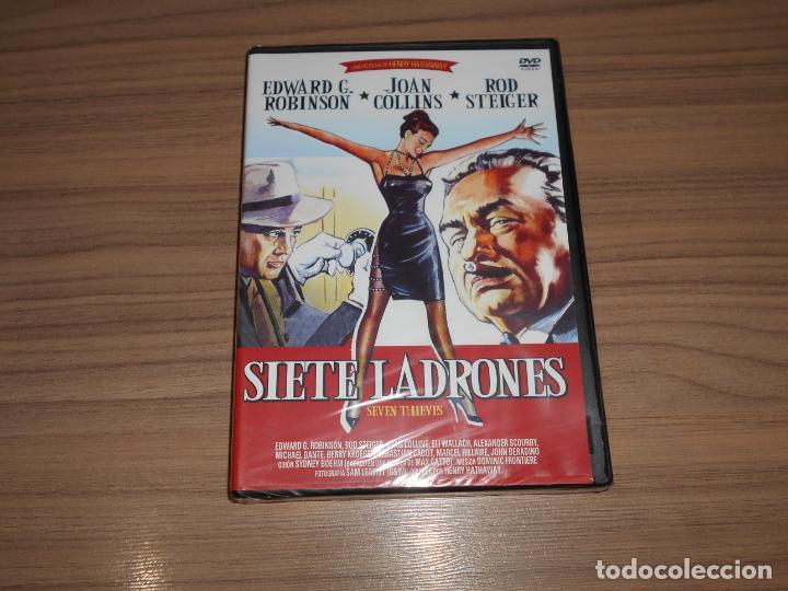 SIETE LADRONES DVD EDWARD G. ROBINSON JOAN COLLINS ROD STEIGER NUEVA PRECINTADA (Cine - Películas - DVD)