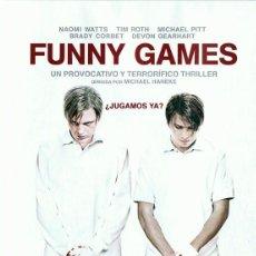Cinema: FUNNY GAMES NAOMI WATTS & TIM ROTH. Lote 188451725