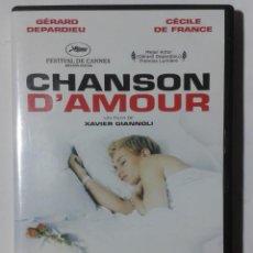 Cine: CHANSON D´AMOUR- GERARD DEPARDIEU- CECILE DE FRANCE- DVD . Lote 189273411