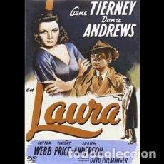 Cine: LAURA DIRECTOR: OTTO PREMINGER ACTORES: GENE TIERNEY, DANA ANDREWS, CLIFTON WEBB, JUDITH ANDERSON. Lote 189283710